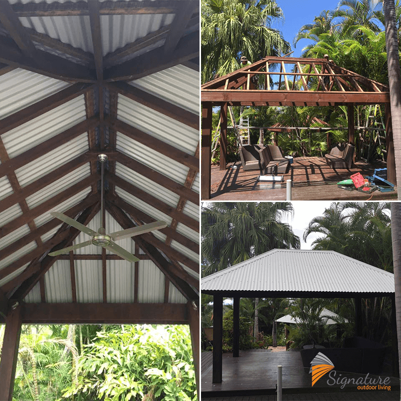 Bali Hut Patio created by the Signature Outdoor Living team