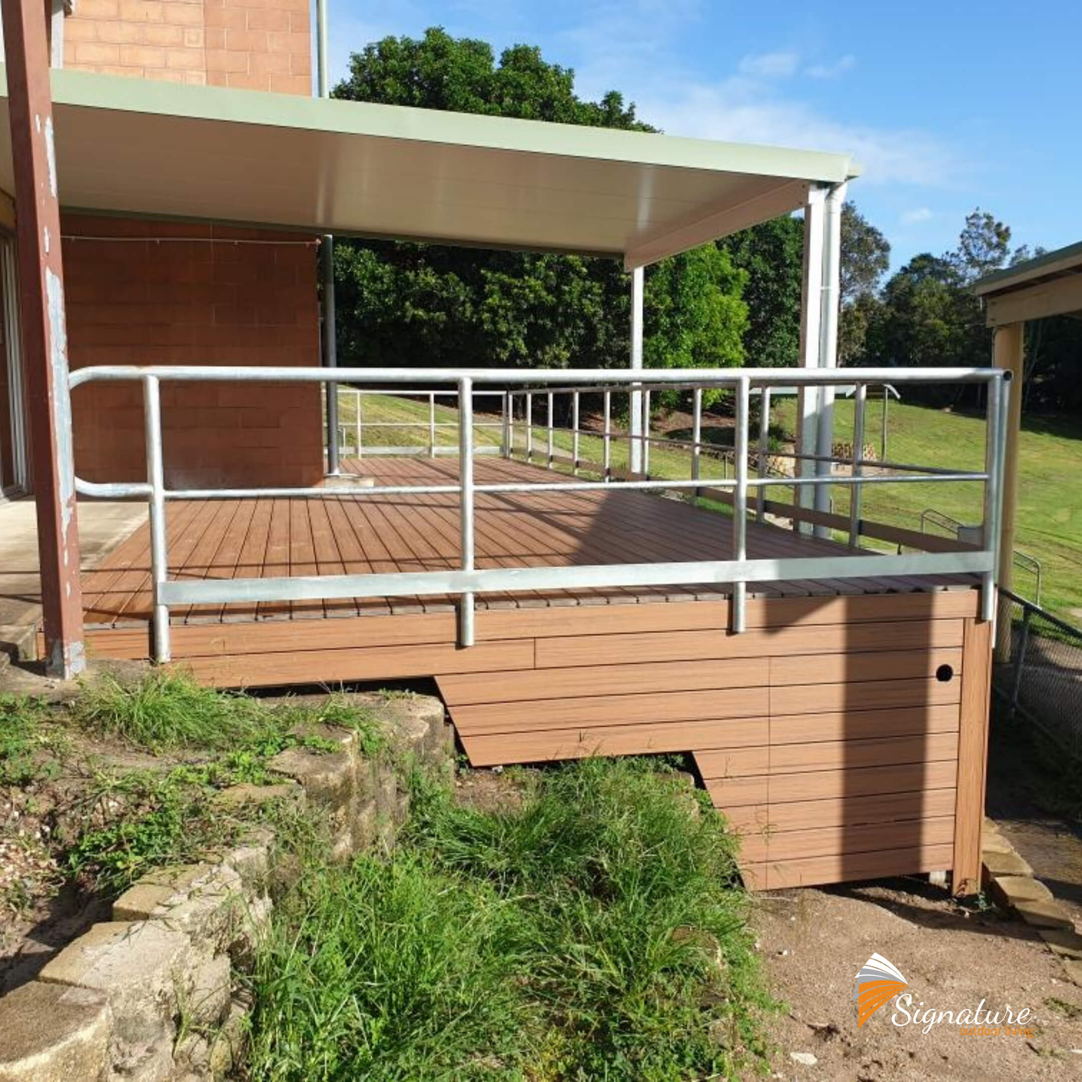 large custom decking built for eaton hills state school
