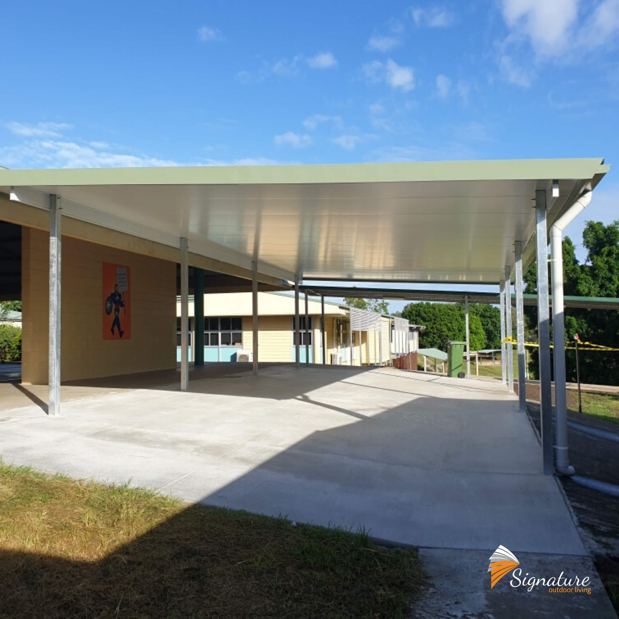 insulated patio and concreting completed for eaton hills state school